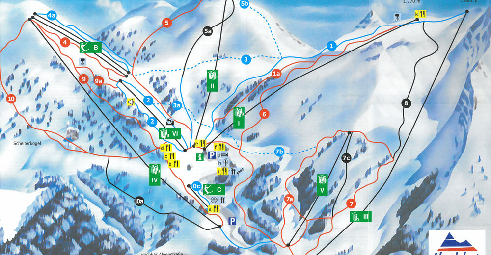Piste map Ski resort Hochkar