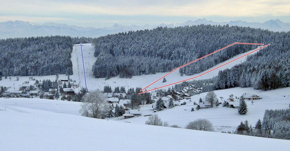 Mapa stoków Ośrodek narciarski Herrischried