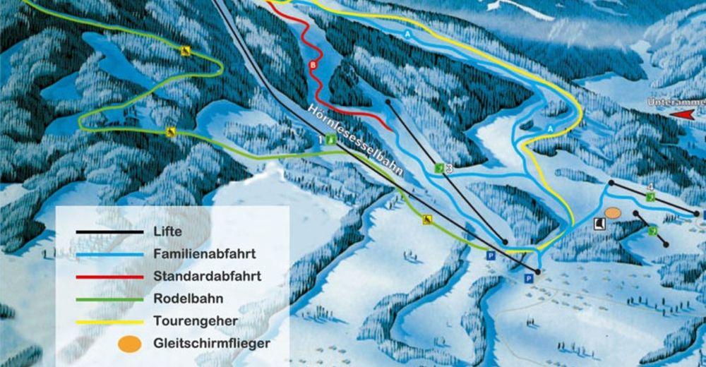 Mapa stoków Ośrodek narciarski Hörnle - Bad Kohlgrub