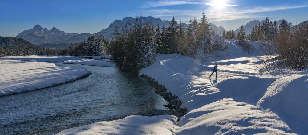 Loipenplan Alpenwelt Karwendel - Mittenwald Krün Wallgau