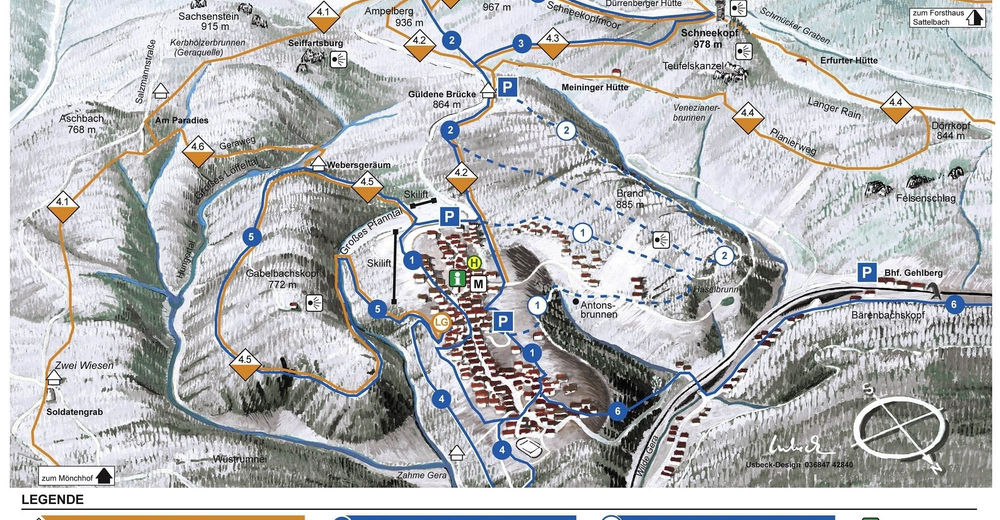 Piste map Ski resort Gehlberg