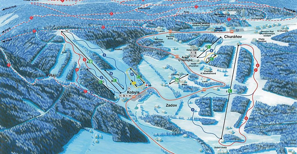 Bakkeoversikt Skiområde Zadov