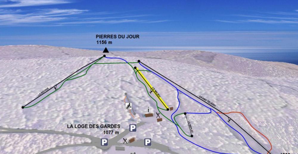 Pistenplan Skigebiet La Loge des Gardes