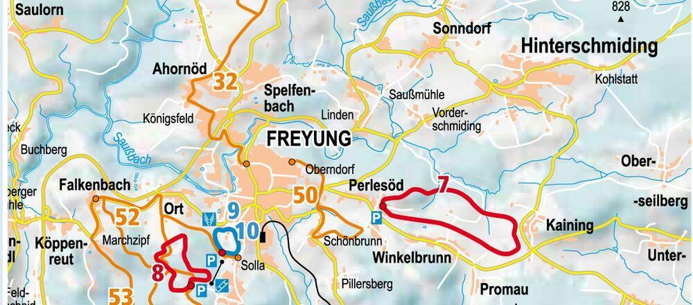 Loipenplan Langlaufzentrum Freyung-Kreuzberg