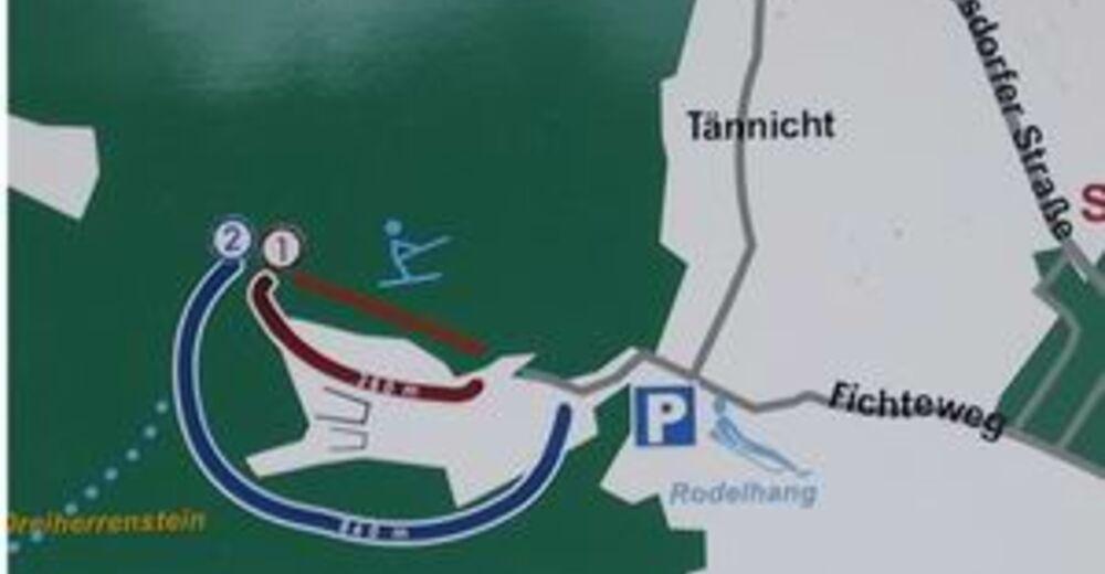 Pistenplan Skigebiet Tännicht / Sohland a. d. Spree