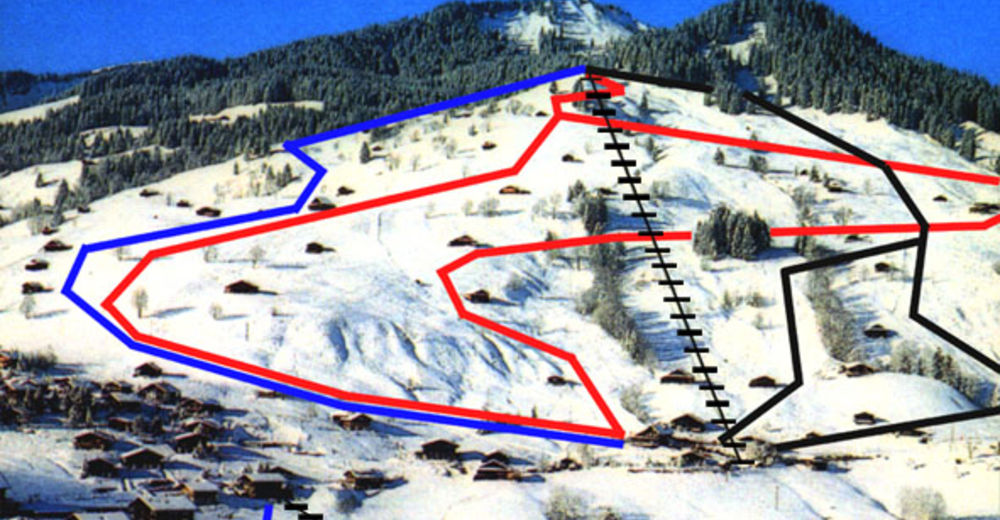 Piste map Ski resort Habkern