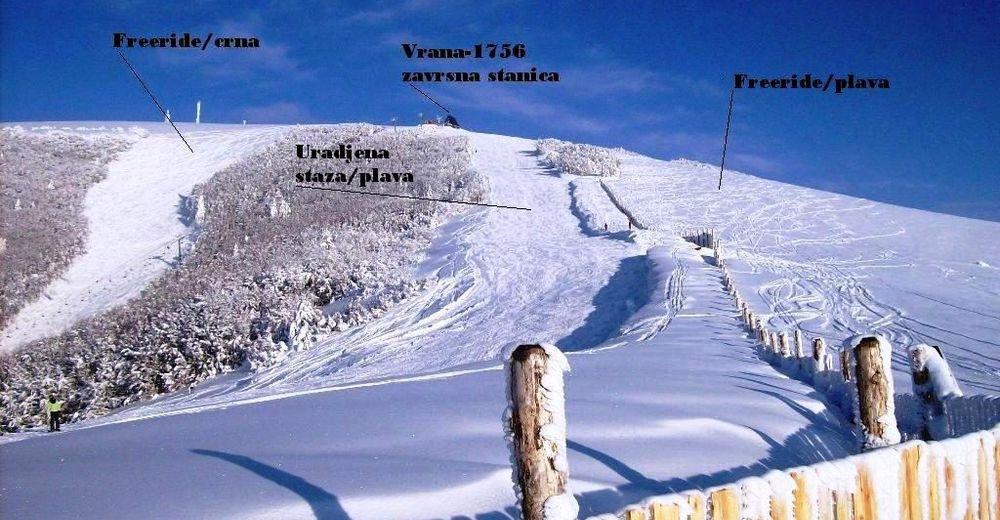 Bakkeoversikt Skiområde Stožer-Vrana / Kupres