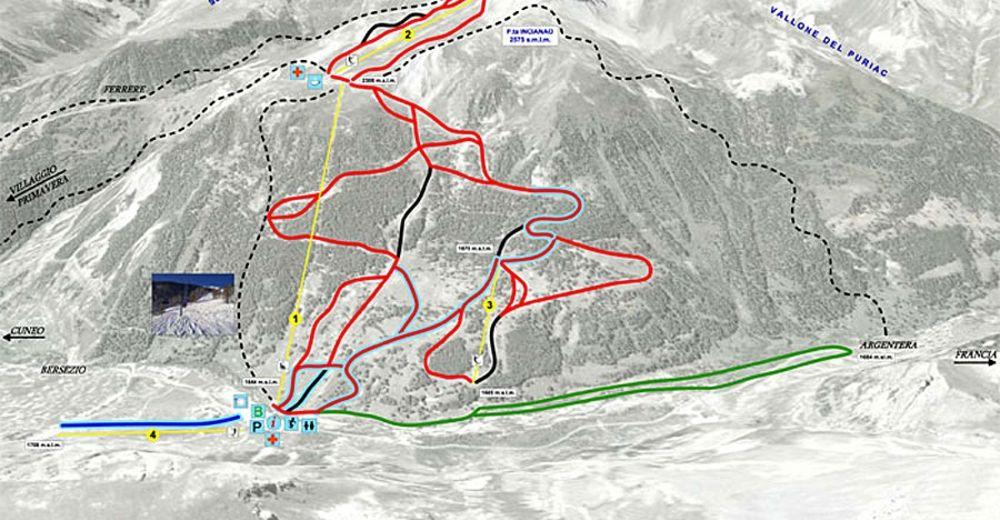 Piste map Ski resort Argentera