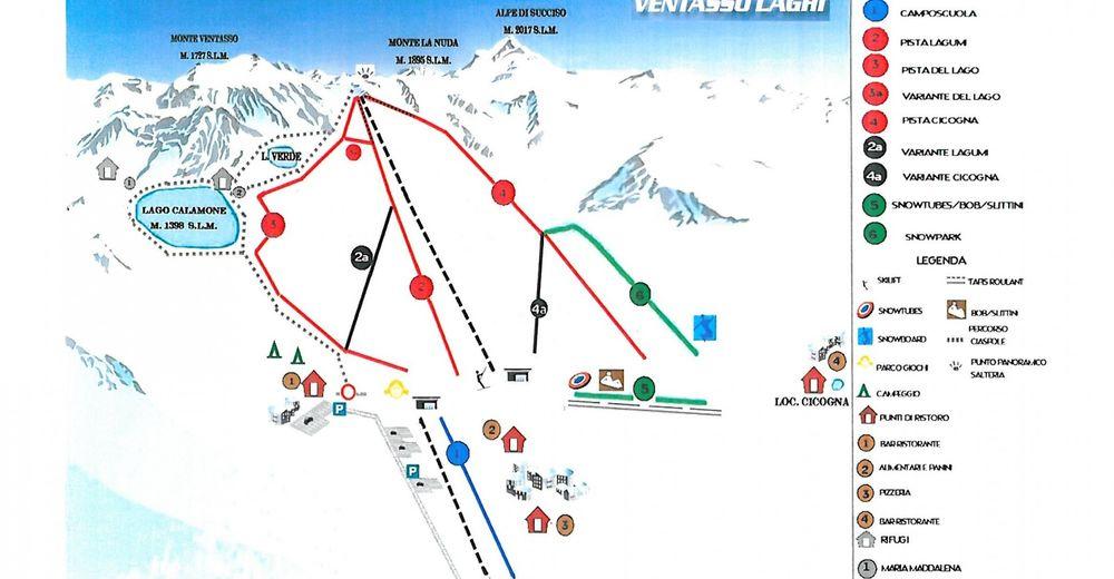 Pistenplan Skigebiet Ventasso Laghi