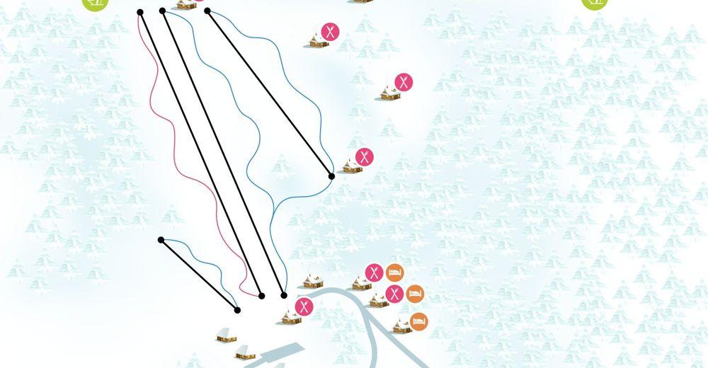 Mappa delle piste Comparto sciistico Studenov / Rokytnice nad Jizerou