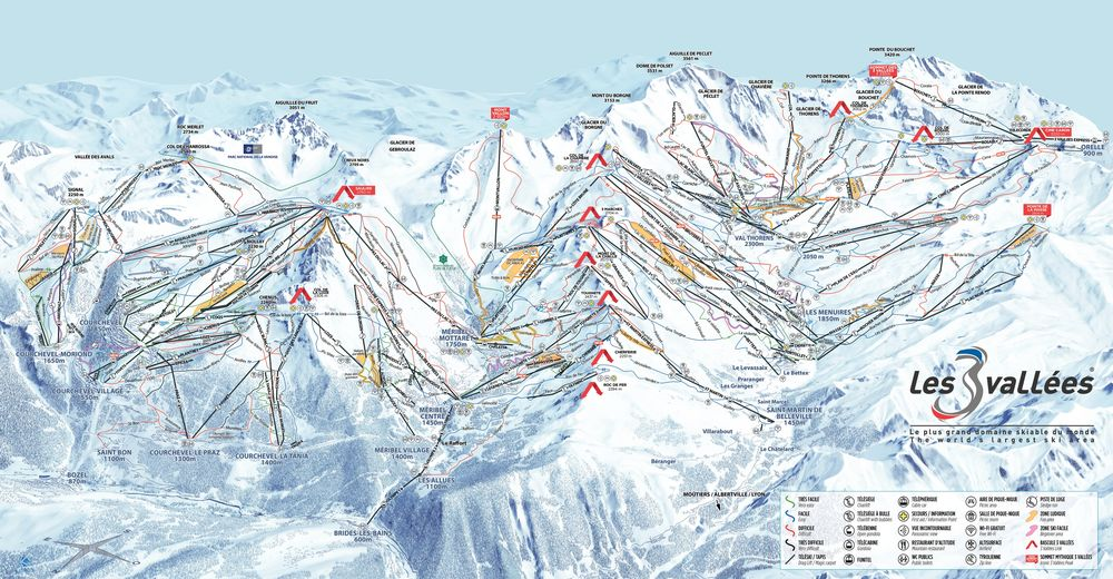 Piste map Ski resort Val Thorens / Les 3 Vallées