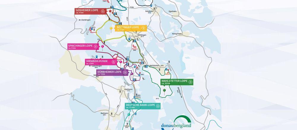 Loipenplan Heuberg - Donaubergland
