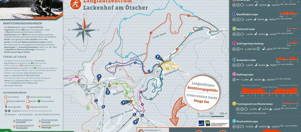 Loipenplan Lackenhof - Ötscher