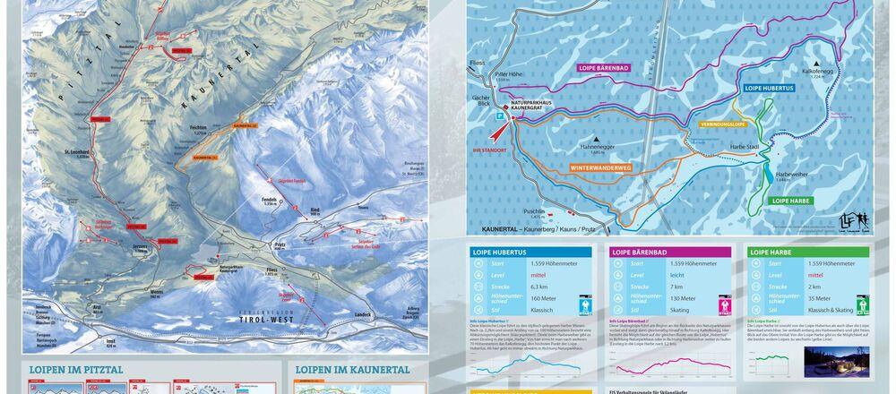 Loipenplan Ferienregion TirolWest