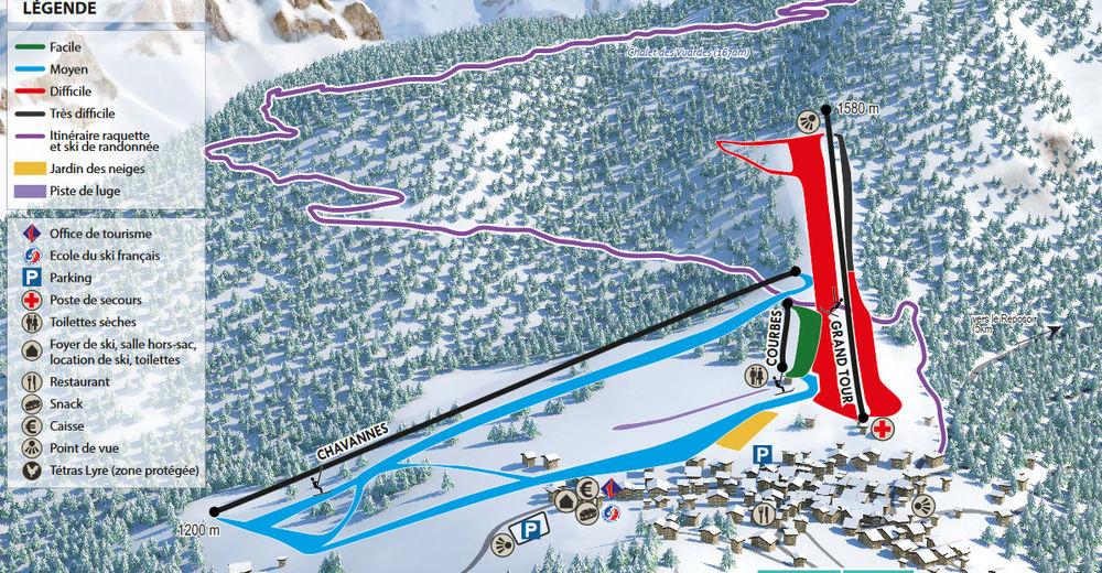 Pistenplan Skigebiet Romme - Nancy-sur-Cluses