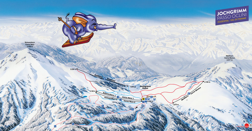 Piste map Ski resort Jochgrimm