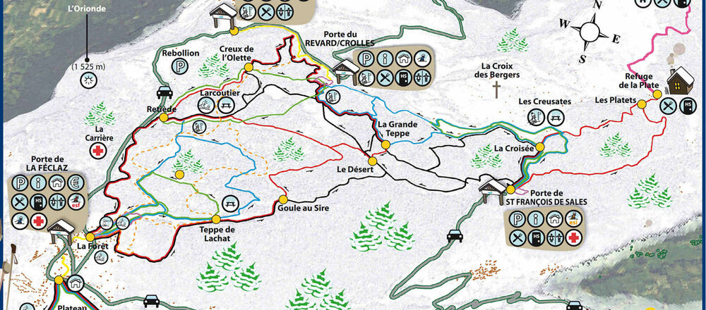 Loipenplan Savoie Grand Revard