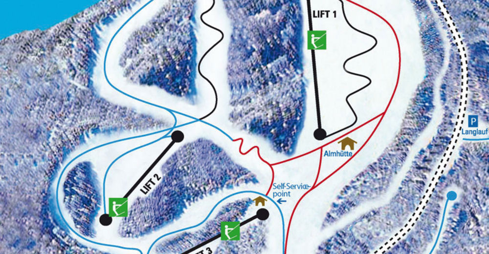 Piste map Ski resort Bad Sachsa - Ravensberg