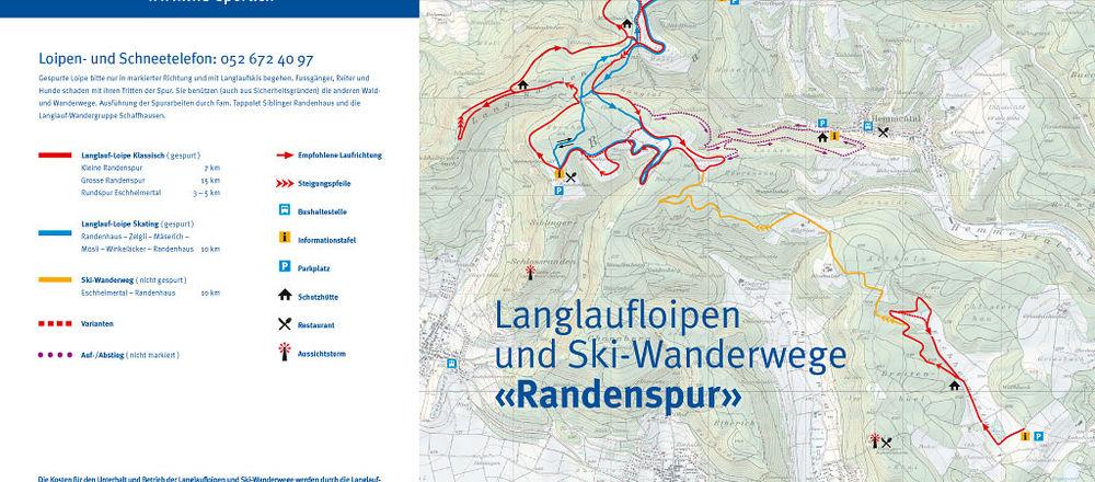 Loipenplan Schaffhausen - Randen / Eschheimertal