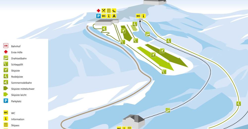 Piste map Ski resort Augustusburg