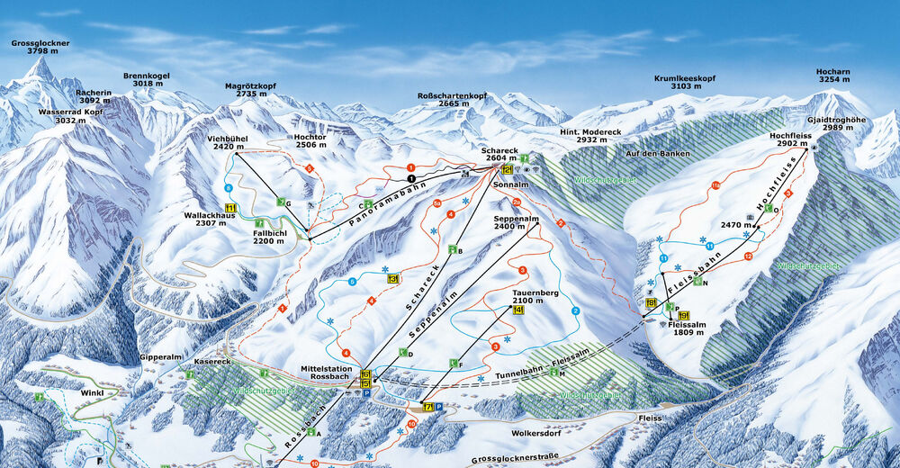 Piste map Ski resort Heiligenblut - Grossglockner
