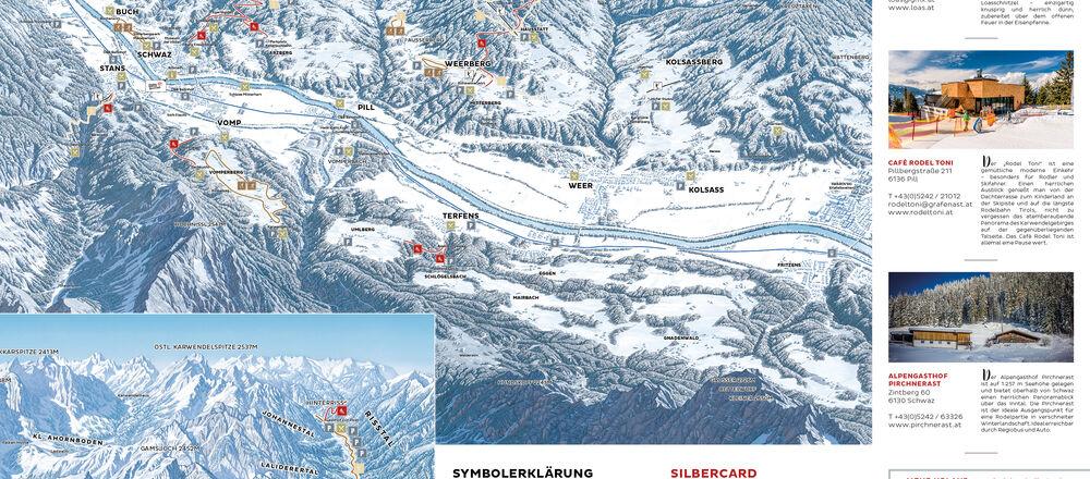 Loipenplan Silberregion Karwendel