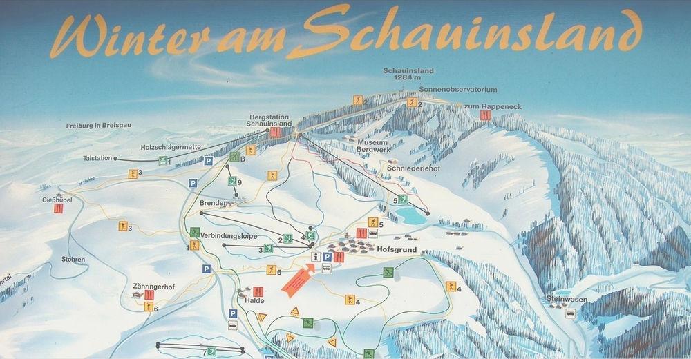 Plan skijaških staza Skijaško područje Hofsgrund Schauinsland
