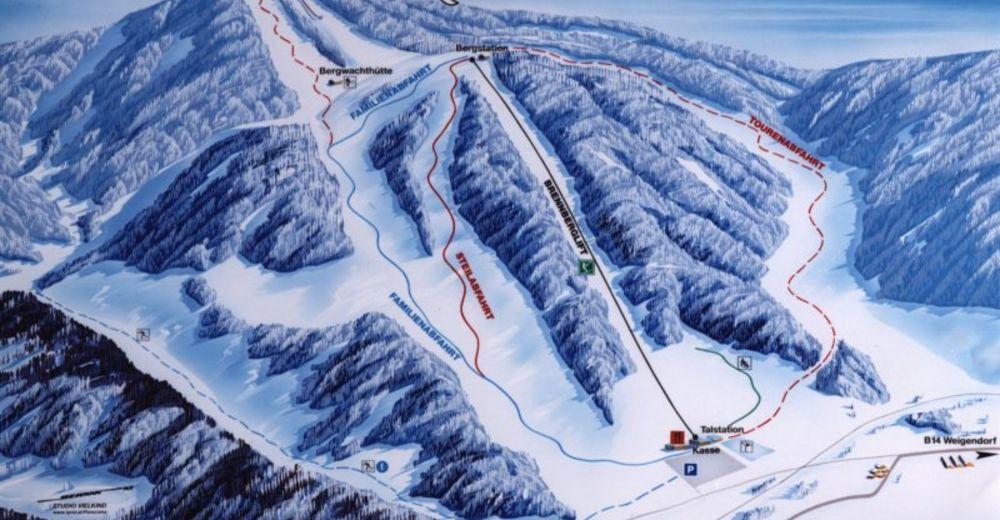Pistenplan Skigebiet Brennberglift - Etzelwang