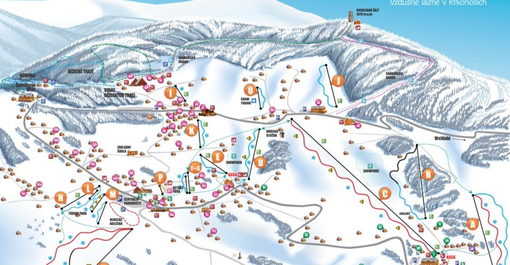 Piste map Ski resort Benecko