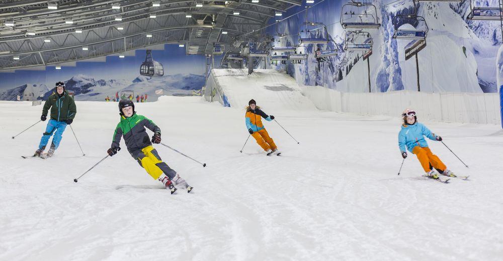 План лыжни Лыжный район Skihalle Neuss