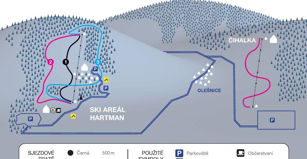 План лыжни Лыжный район HARTMAN
