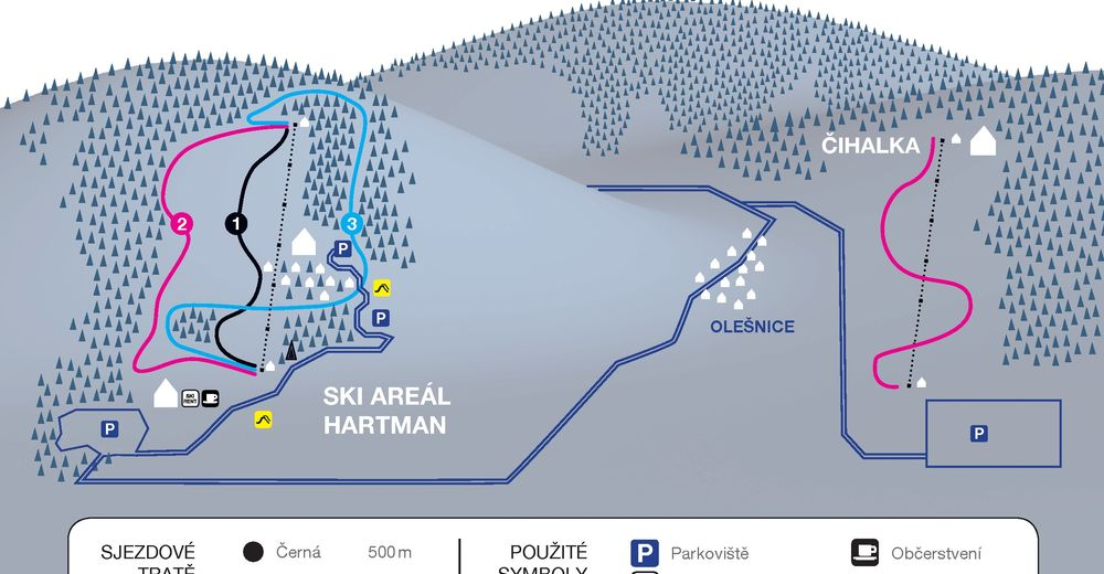 Piste map Ski resort HARTMAN