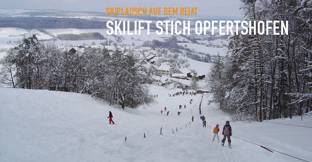 Plan de piste Station de ski Skilift Stich / Opfertshofen