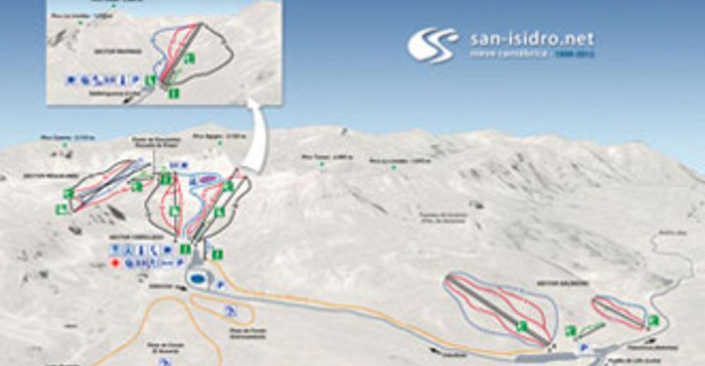 Pistplan Skidområde San Isidro - Salencias