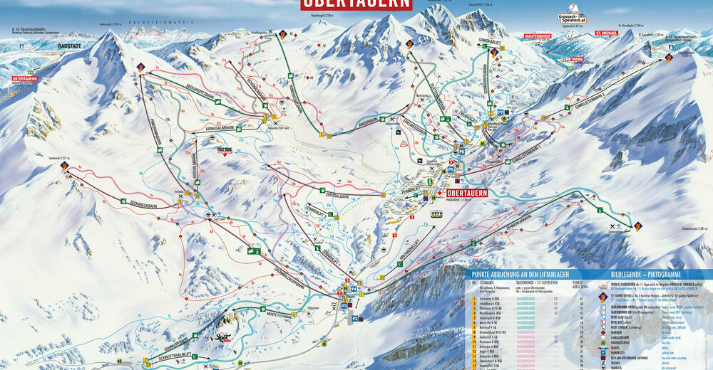 Piste map Ski resort Obertauern