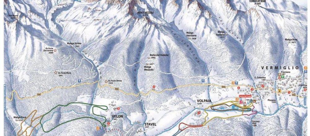 Loipenplan Val di Sole / Passo Tonale - Vermiglio