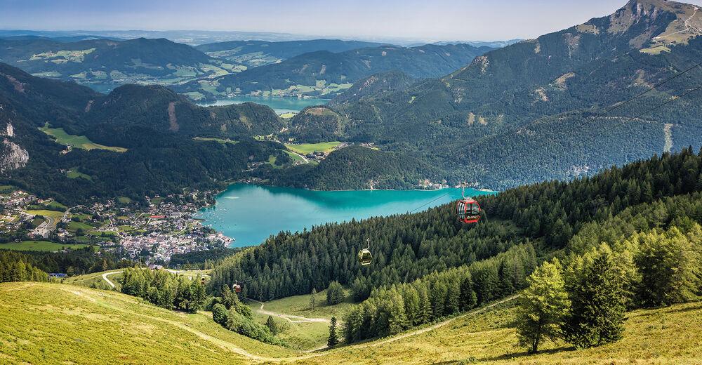 Pistplan Skidområde Zwölferhorn Seilbahn St. Gilgen
