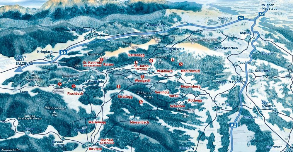 Piste map Ski resort Skilift Rettenegg