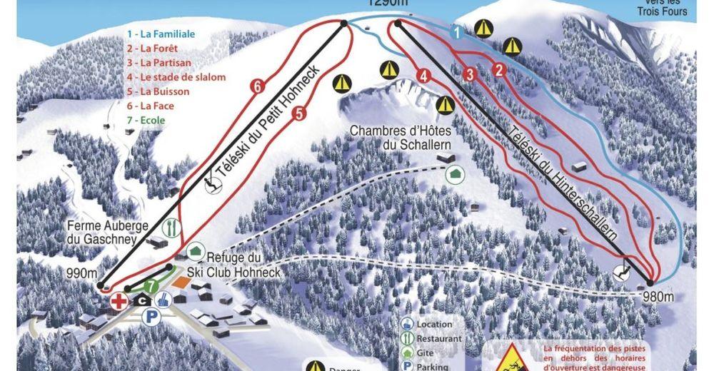 Pistenplan Skigebiet Gaschney 360°