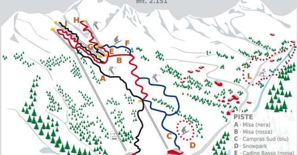 Piste map Ski resort Bagolino - Gaverland
