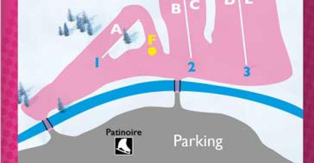 Plan skijaških staza Skijaško područje Aiguilles