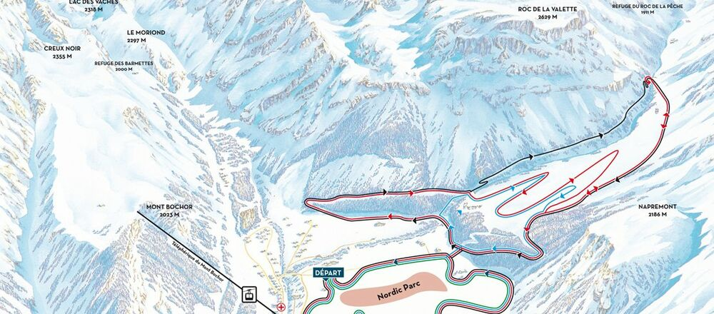 Loipenplan Pralognan la Vanoise