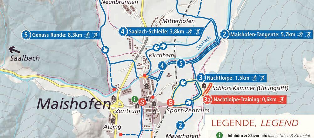 Loipenplan Maishofen