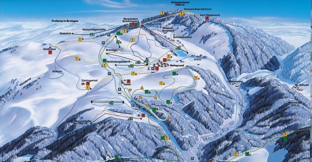 План лыжни Лыжный район Schauinslandbahn