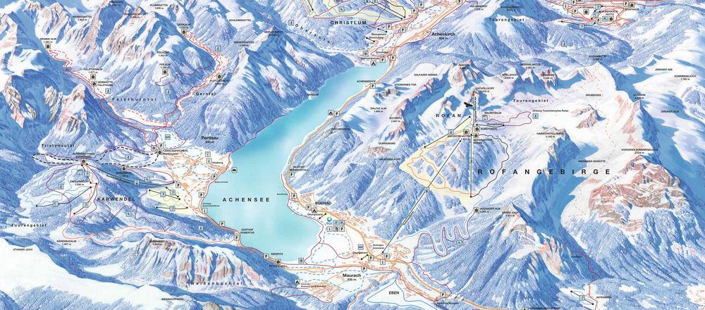 Loipenplan Achensee - Tirols Sport und Vitalpark