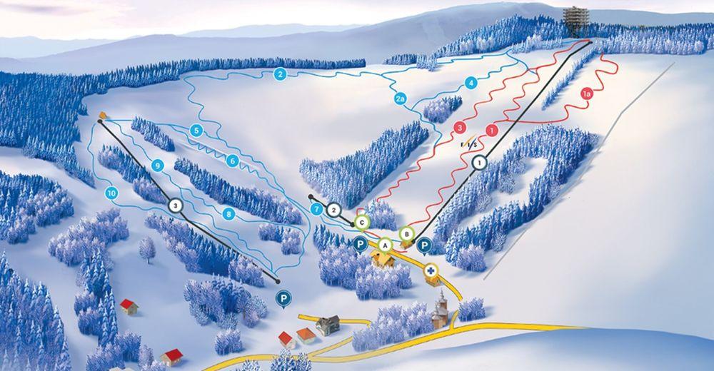 Plan de piste Station de ski Słotwiny Arena
