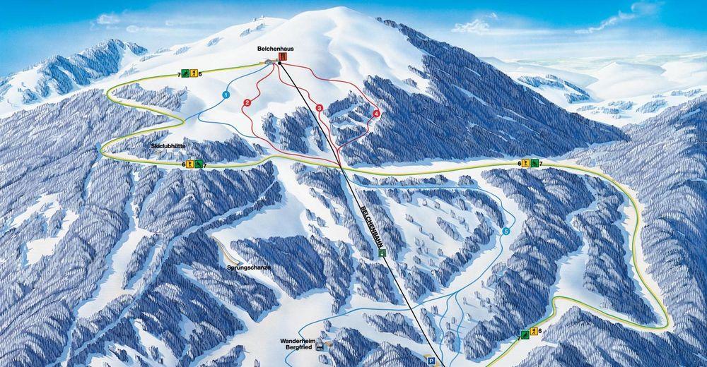 Bakkeoversikt Skiområde Belchen