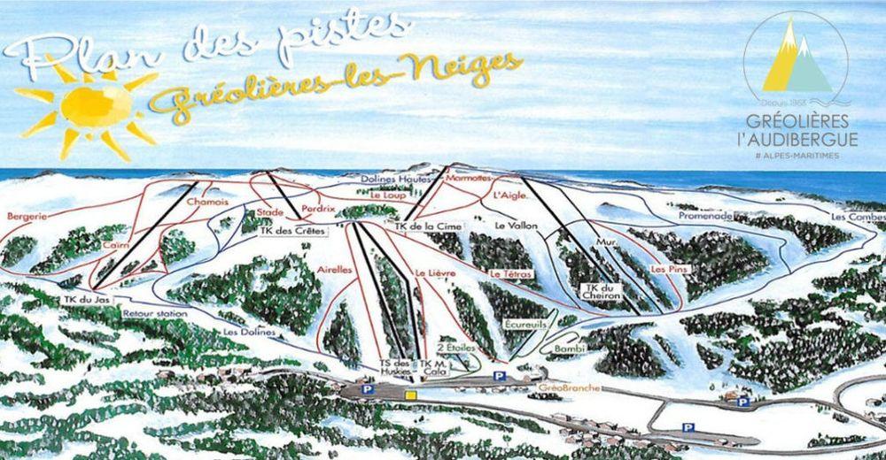 Bakkeoversikt Skiområde Gréolières-Les-Neiges