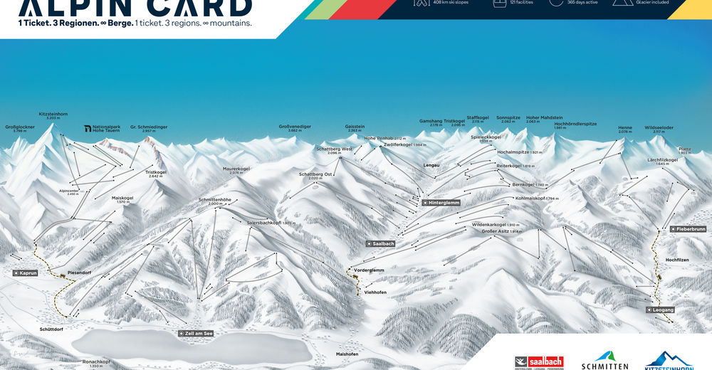 Piste map Ski resort Bruck Fusch - Grossglockner