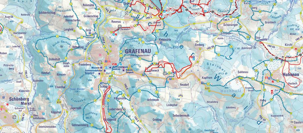 Loipenplan Grafenau